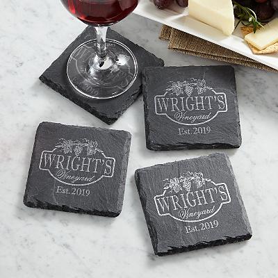 Vineyard Slate Coasters