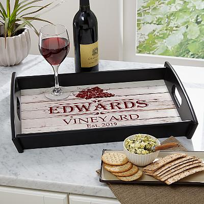 Vineyard Wood Serving Tray