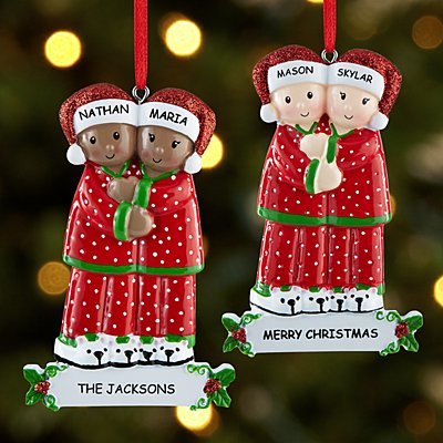 Pajama Couple Ornament