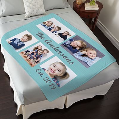 Best Family Photo Plush Blanket