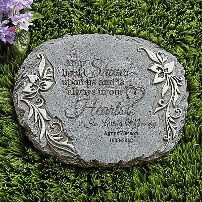 Your Light Shines Memorial Garden Stone