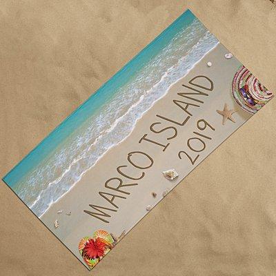 Written In Sand Beach Towel