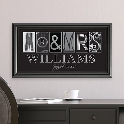 Mr. & Mrs. Architectural Frame Print