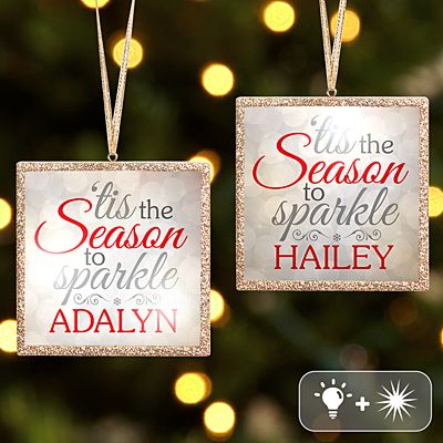 TwinkleBright® LED Season to Sparkle Gold Ornament