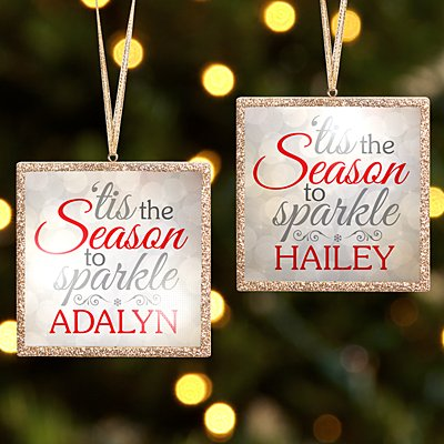 TwinkleBright® LED Season to Sparkle Gold Bauble