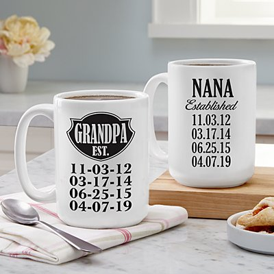 We're Established Mug Set