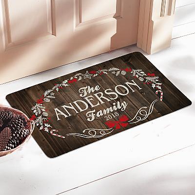 Rustic Christmas Doormat