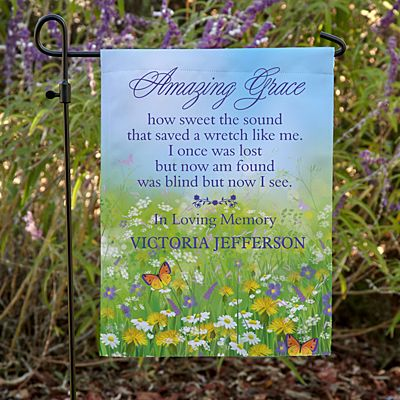 Amazing Grace Memorial Garden Flag