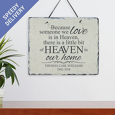 For Loved Ones in Heaven Slate
