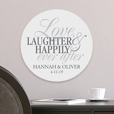 Love, Laughter, Happily Ever After Wood Plaque