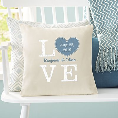 Rustic Love Heart Throw Pillow