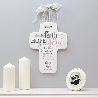 Hope, Faith & Love Wedding Cross