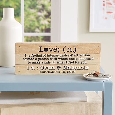 Love Definition Mini Wood Pallet