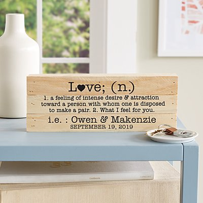 Love Definition Mini Wood Pallet