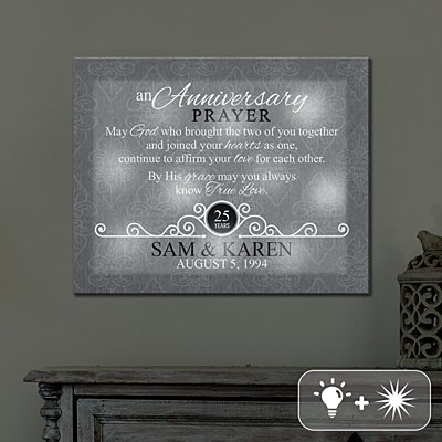 TwinkleBright® LED Anniversary Prayer Canvas