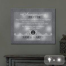 TwinkleBright® LED Anniversary Prayer Canvas
