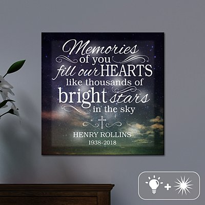 TwinkleBright® LED Memories Of You Canvas