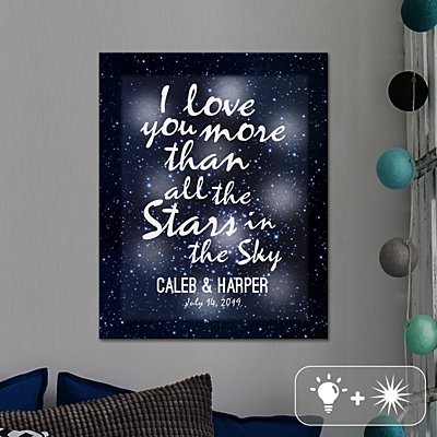 TwinkleBright® LED Stars in the Sky Canvas