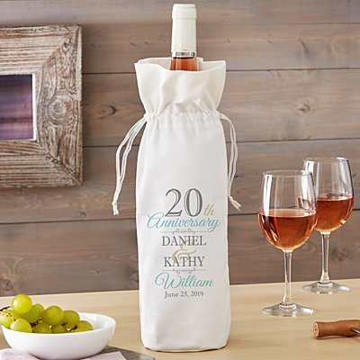 Anniversary Wine Bag