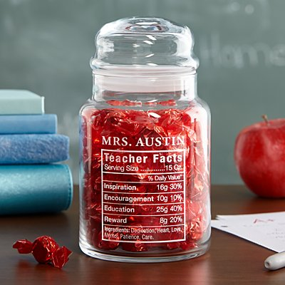 Teacher Facts Candy Jar