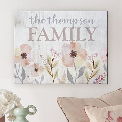 Watercolor Garden Canvas