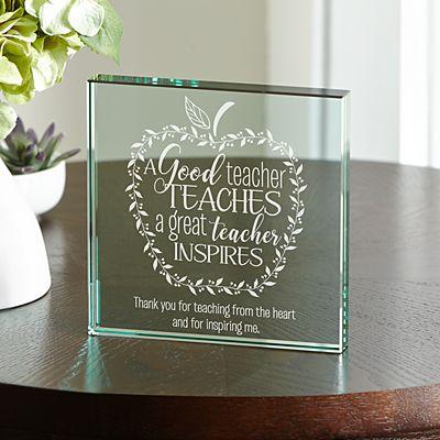 What Makes A Great Teacher Glass Block