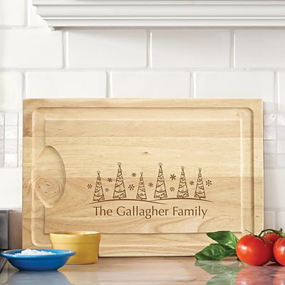 Christmas Tree Wood Cutting Board.