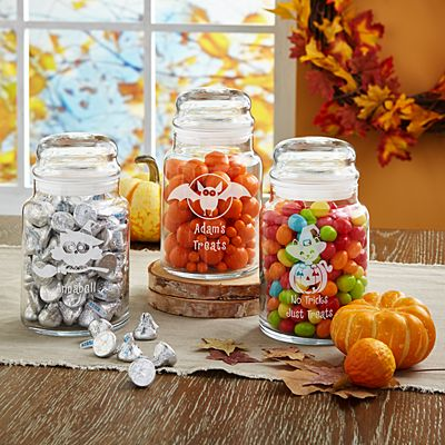 Frightful Fun Glass Candy Jars