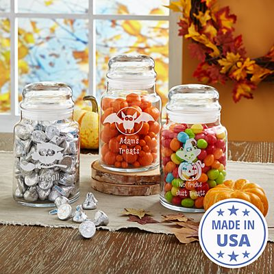 Frightful Fun Glass Treat Jars