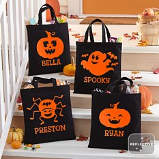 Ghostly Ghouls Halloween Reflective Treat Bag