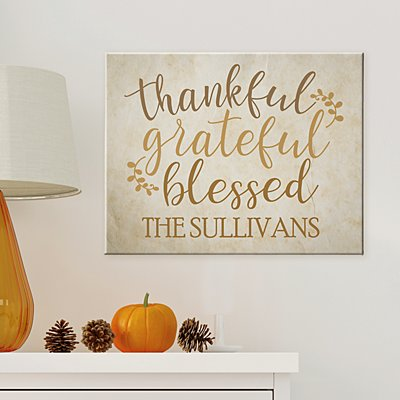 Grateful, Thankful, Blessed Canvas