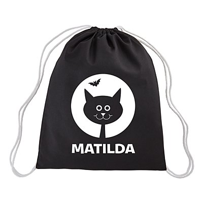 Halloween Cuties Glow in the Dark Black Cat Treat Sack