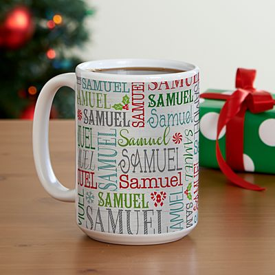 Holly Jolly Name Mug