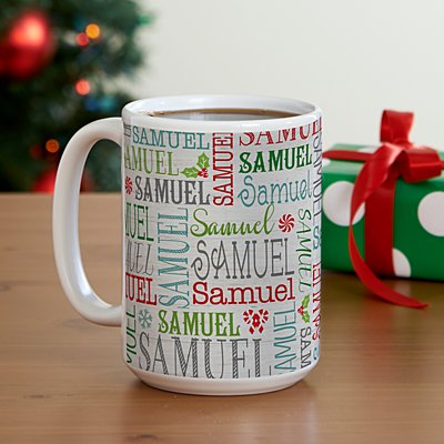 Holly Jolly Name 15oz Mug