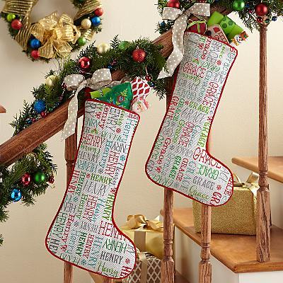 Holly Jolly Name Stocking