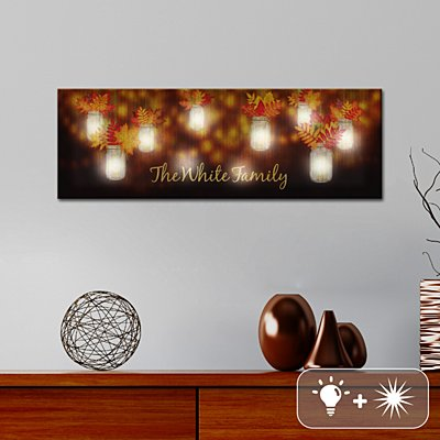 TwinkleBright® LED Autumn Leaves Canvas