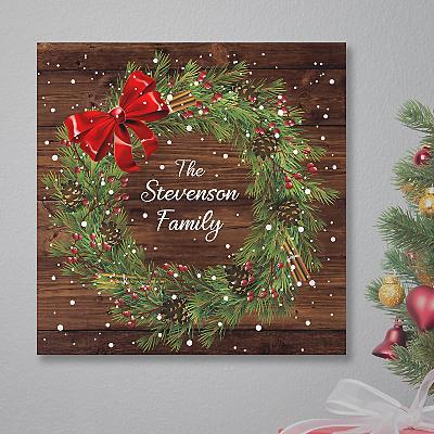 Christmas Wreath Canvas