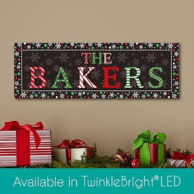 Festive Name Canvas