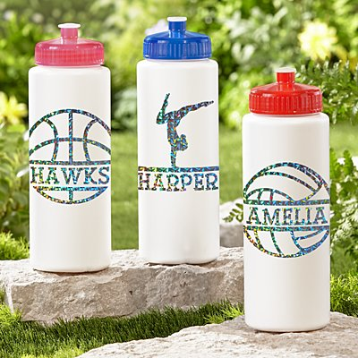 Sporty Fun Glitter 32oz Water Bottle