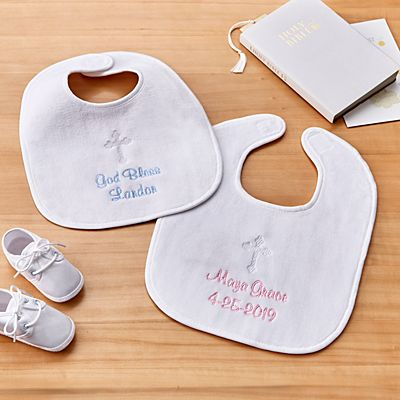 Embroidered Baptismal Bib