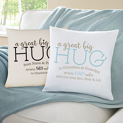 Hugs From Far Away Throw Pillow