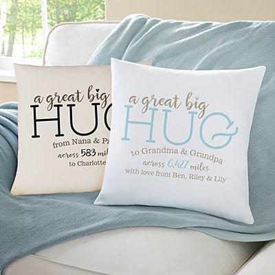 Hugs From Far Away Throw Pillow