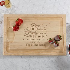 Bless This Food Wood Cutting Board