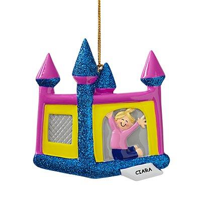 Bouncy House Ornament-Girl/Blonde Hair