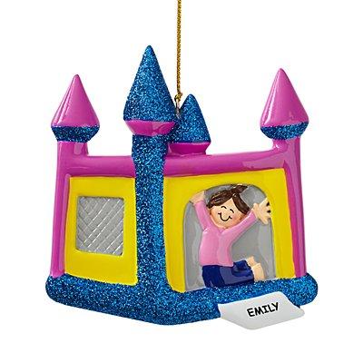 Bouncy House Ornament-Girl/Brown Hair