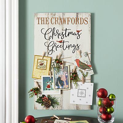Christmas Greetings Card Holder