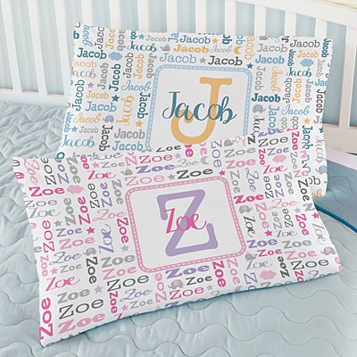 Collage Name Pillowcase
