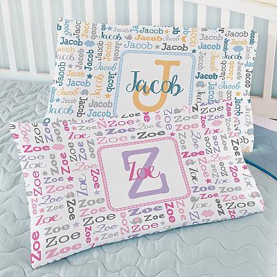 Collage Name Pillowcase