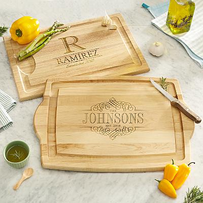 Decorative Name Wooden Cutting Board