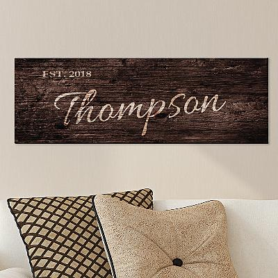 Family Scripted Name Canvas